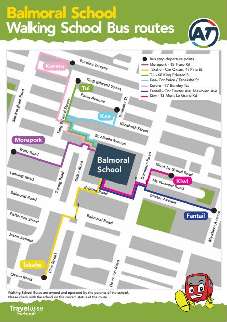 Balmoral Walking School Bus Routes